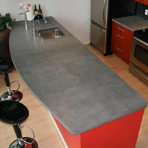 countertop made of recycled material